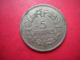 UNE PIECE DE 5 FRANCS 1935  A LAVRILLIER - France