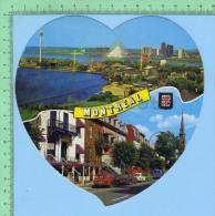 Montreal Multi-vues( Kut Kards Die Cut Cards Decoupis  ) Carte Postale Forme De Coeur Post Card - Cartes Postales