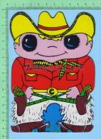 Forme De Cowboy ( Kut Kards Die Cut Cards Decoupis Cir: 1980 ) Large Carte Postale  Post Card - Cartes Postales