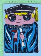 Forme De Petit Gradué ( Kut Kards Die Cut Cards Decoupis Cir: 1980 ) Large Carte Postale  Post Card - Cartes Postales