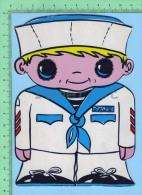 Forme De Petit Marin ( Kut Kards Die Cut Cards Decoupis Cir: 1980 ) Large Carte Postale  Post Card - Non Classés