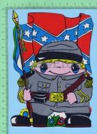 Forme De Petit Militaire ( Kut Kards Die Cut Cards Decoupis Cir: 1980 ) Large Carte Postale  Post Card - Non Classés