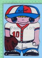 Forme De Petit Joueur De Baseball Expo  ( Kut Kards Die Cut Cards Decoupis Cir: 1980 ) Large Carte Postale  Post Card - Cartes Postales