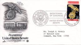 USA. N°1862 Sur Enveloppe 1er Jour (FDC) De 1989. Le Sénat. - Unabhängigkeit USA
