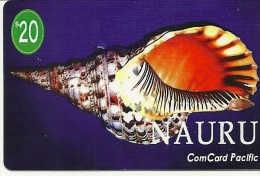 Nauru---Shells-com Card Paclfic-$20-used Card+1 Card Prepiad Free