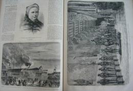 UNIVERS1872N°913:PARIS BOHEMIENS PTE ST-OUEN/INVALIDES MUSEE ARTILLERIE/ZURICH LAC COLLISION/CEYLAN CAFE/COMTESSE DASH - 1850 - 1899