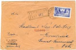 LBL18 - ROUMANIE LETTRE RECOMMANDEE AU DEPART DE PLOESTI 7/7/1940 CENSURE ALLEMANDE - Marcophilie