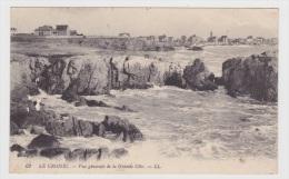 (RECTO / VERSO) LE CROISIC - N° 62 - VUE GENERALE DE LA GRANDE COTE - LEGER PLIS D' ANGLE ET MARQUES - Le Croisic