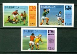 Barbuda 1974, Sport - World Cup Championship - Football - Soccer - FIFA **, MNH, IMPERF - Coppa Del Mondo