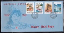 Christmas Island 1989 Malay-Hari Raya FDC - Christmas Island