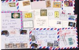 15 Lettres Et Cartes Pour La France   Affranchissements Variés Dont Un Par Timbre-taxe - Tunisia