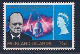 Falkland Islands, Scott # 158 Mint Hinged Churchill, 1966 - Falkland
