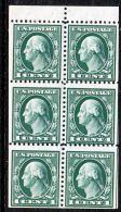 U.S. 498e  Minor Miscut   BOOKLET PANE  Flat Press  Perf 11  No Wmk.  **  1917-19 Issue - Booklets