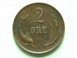 1874 - 2 ORE / KM 793.1 ( For Grade, Please See Photo ) !! - Danemark