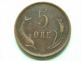 1894 - 5 ORE / KM 794.2 ( For Grade, Please See Photo ) !! - Danemark