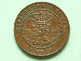 1858 - 1 Cent / KM 307.2 ( For Grade, Please See Photo ) !! - [ 4] Colonie