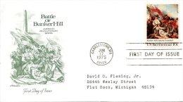 USA. N°1054 Sur Enveloppe 1er Jour (FDC) De 1975. Indépendance Des U.S.A./Bataille De Bunker Hill/Tableau. - Unabhängigkeit USA
