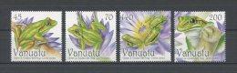 VANUATU 2011  N°  1392/1395 ** = MNH  . Superbe.  (Faune, Animaux, Grenouilles, Batracien. Cats, Fauna Animals) - Vanuatu (1980-...)