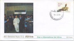 SUD AFRICA  - FDC ROMA 1988 - VIAGGIO DEL PAPA IN AFRICA -  JOHANNESBURG - ANNULLO SPECIALE - FDC