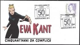 6.- 0.23 ITALY ITALIA 2013. SPECIAL POSTMARK. 50 YEARS OF EVA KANT.WITH  DIABOLIK. COMICS. ALBISSOLA MARINA - Fumetti