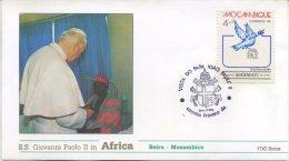MOZAMBICO - FDC ROMA 1988 - VIAGGIO DEL PAPA IN AFRICA -  BEIRA - ANNULLO SPECIALE - FDC