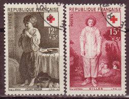 FRANCE - 1956 - YT N° 1089 / 1090  -oblitérés - Croix Rouge - France