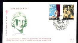 BELGIUM * FDC * ANTI TB * TUBERCULOSE * SOLIDARITY * MEDICAL * 1970 - FDC