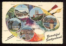 L5447 Beautiful Switzerland: Genève, Lugano, Davos , Zurich, Luzern - Altri