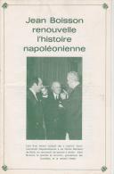 JEAN BOISSON NAPOLEON GENERAL DE CRANCEY COLONEL DENEE FRANC MACONS - Publicidad