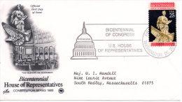 USA. N°1861 Sur Enveloppe 1er Jour (FDC) De 1989. La Chambre Des Représentants. - Unabhängigkeit USA