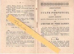 Religion Et Esotérisme-1939-Culte Perpétuel De Saint-Joseph Et  L´Oeuvre Du Père Damien- - Religion & Esotericism