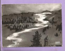 Dépt 73 - CPSM - Descente Aux Flambeaux De La Loze Par Les Moniteurs De L'Ecole De Ski De Courchevel - 1951 - Photo - France
