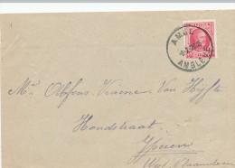 277/21 --  CANTONS DE L´EST BELGES - Lettre TP Houyoux 40 C AMEL AMBLEVE 1926 Vers YPEREN - 1922-1927 Houyoux