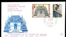BELGIUM * FDC 1918 VICTORY * 1968 - 1961-70