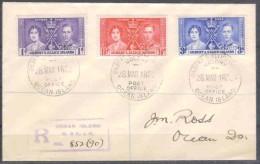 Britische Kolonie - Gilbert .u. Ellice Inseln - R - Brief  28.3.1938 / Ocean Nach Ocean / Siehe Fotos - Gilbert- Und Ellice-Inseln (...-1979)