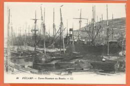 HA533, Fécamp, Terre-Neuviers Au Bassin, 49, Bâteau De Pêche, Non Circulée - Fécamp