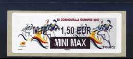 ATM-LABEL-LISA 2 : MINI MAX  - IER 2  - QUIMPER 23-28 Juillet 2013 - 2010-... Abgebildete Automatenmarke