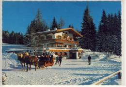 """RAMSAU Am Dachstein, Werbekarte Café """"Gerhard"""" - Sondermarke Und Stempel Ski WM 1982 - Ramsau Am Dachstein"""