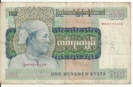 BURMA 100 KYATS ND1976 VF P 61 - Myanmar