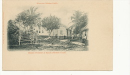 Karata Moskito Coast Mission Premises Moravian Mission Fields Mosquitoes German Card - Nicaragua