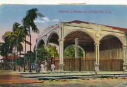 Corinto Estacion Y Parque Train Station P. Used 3 Stamps To Sweden EdiT Cisneros Foto Leon - Nicaragua