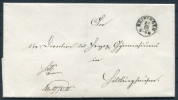 1868 Brief DR Dienst Von Meiningen Gelaufen Hildburghausen - Germania