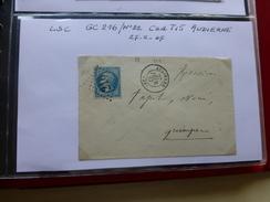 AUDIERNE Timbre Napoléon Sur Let Avec Cachets Dont GC 216, An 1867 ; Ref 547 CL - 1853-1860 Napoléon III