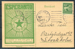 1922 Sweden Malmo Esperanto Brevkort Stockholm Postcard - Esperanto