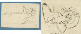 1859- CAGLIARI -  ANNULLO SARDO ITALIANO SU LETTERA PER GENOVA - Italien