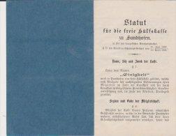 Statut Sundhoffen 1905 17 Pages - Décrets & Lois