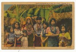 Grupo De Indios Isla El Tigre Piercing Nose  P. Used 1941 To Cuba 2 Stamps - Panama