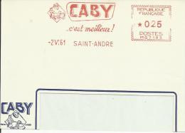 Lettre  EMA Havas Mg 1961 Caby C'est Le Meilleur Porc,  Animaux Mammiferes Porc Alimentation Ferme  Saint André   22/30 - Marcophilie (Lettres)