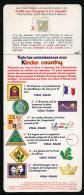 """Fiche Cartonnée """"Teste Tes Connaissances KINDER COUNTRY"""" Jeux à Gratter Avec KINDER COLLEGE 10000 Sacs Champion à Gagner - Otros"""