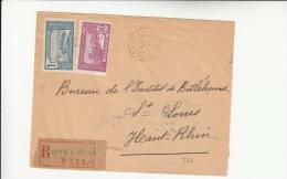 DC543-GUADALOUPE 1927 RECCO POINTE A PITRE-St.LOUIS (Haute-Rhin) 1F.+50 C. GUADALOUPE POSTES - 1921-1960: Moderne